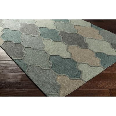 Features:  -Construction: Hand tufted.  -Material: 100% Wool.  -Origin: India.  -Collection: Pollack Morgan.  -Pattern: Geometric.  -Colors: pistachio, mint, sage, and light grape..  Technique: -Tufte