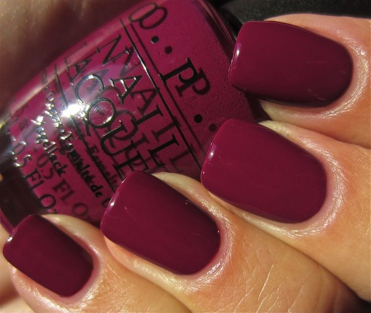 OPI Casino Royale Nail Lacquer OPI Casino Royale is a beautiful deep shade of purple that looks amazing. Looks at how deep this color looks on her nails and how amazing it contrasts with her skin t…