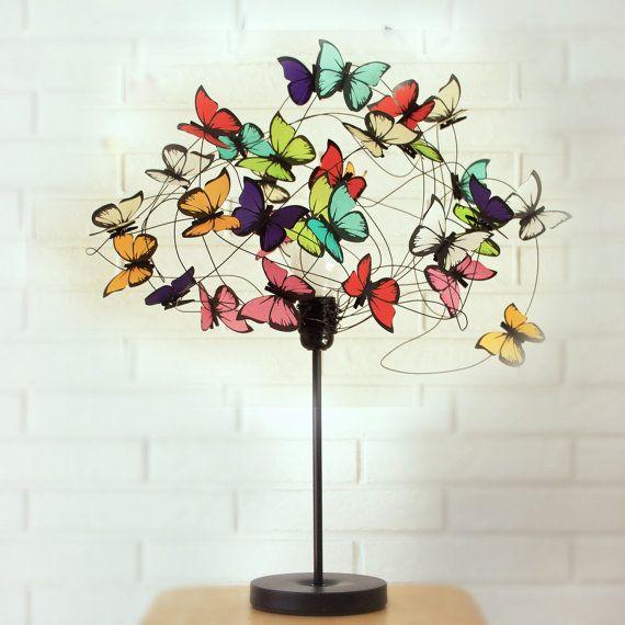 Lámpara de mesa Barbara por AtLastCraftsbyMatchD en Etsy
