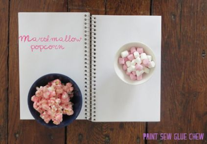 Customise simple popcorn with these 4 easy to make recipes. 4 awesome recipes - Marshmallow Flavour // Paint Sew Glue Chew