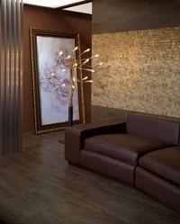 Faience murale décorée or doré motifs géométriques 20x40cm - 1.04m²