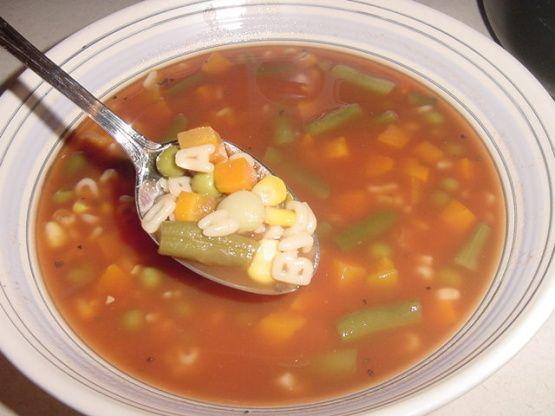 Campbells Abcs Vegetarian Vegetable Soup Recipe - Food.com