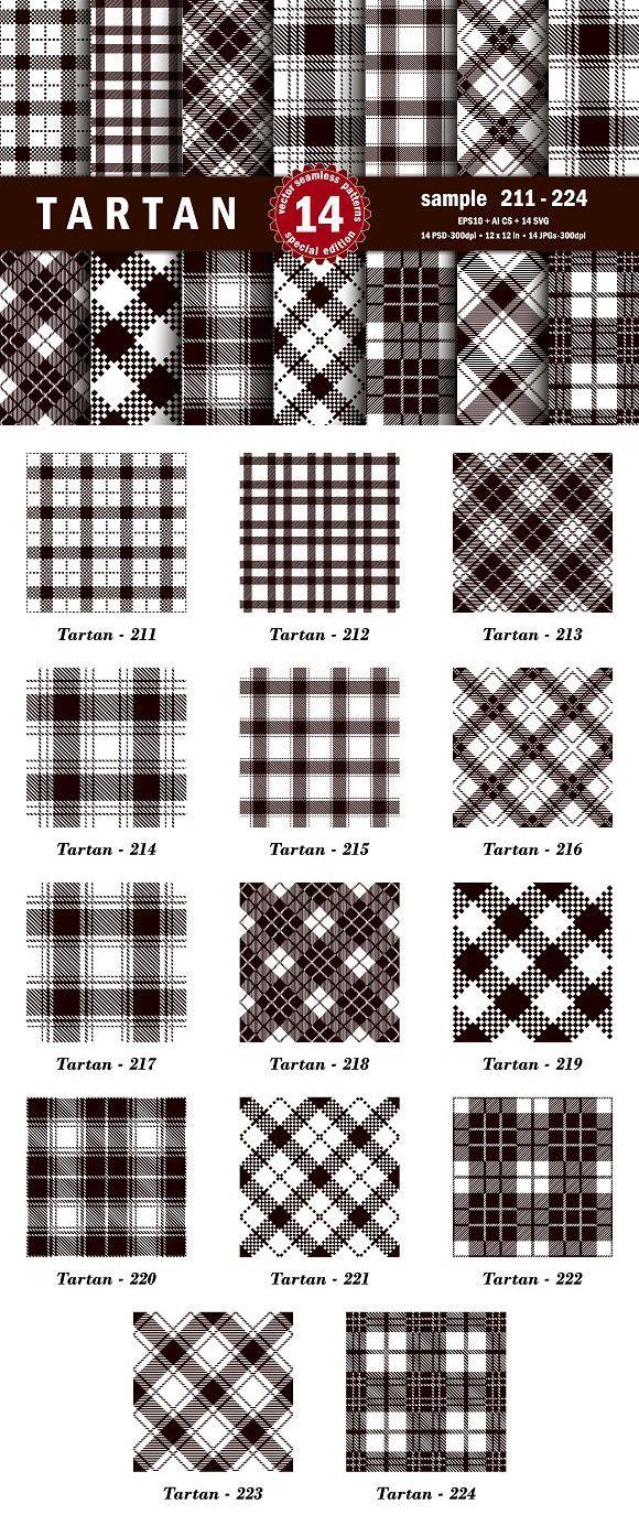 Seamless  Tartan Pattern Part - 16 . Patterns