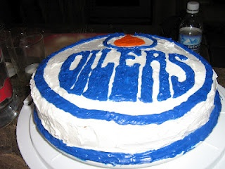 LiLo's Confections - Edmonton Oilers Cake