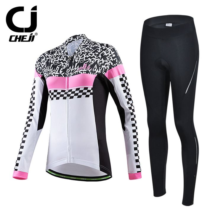 2016 women bicycle long-sleeved pants set Warm cycling sets bike clothe set Autumn And Winter for women's jersey sets D1086CT