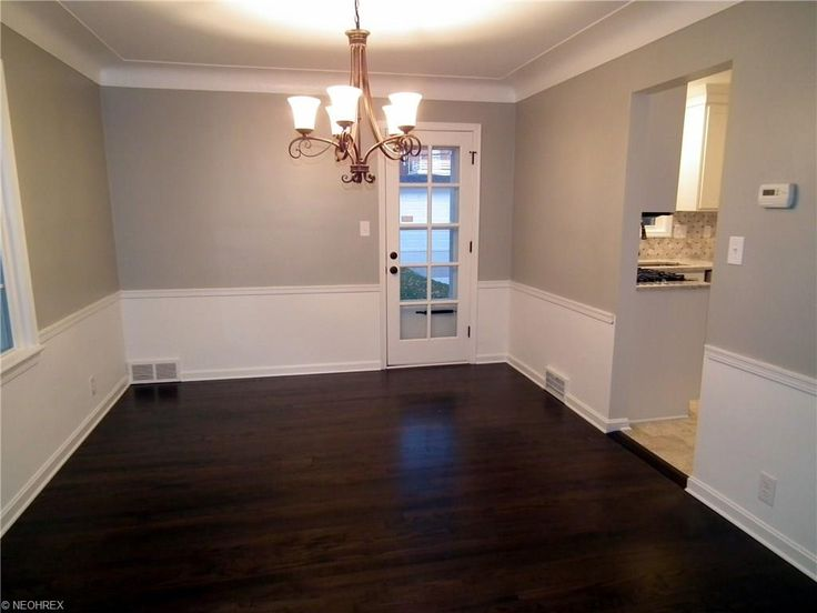 Shaker Heights Oh Dining Room Remodel Refinished Dark