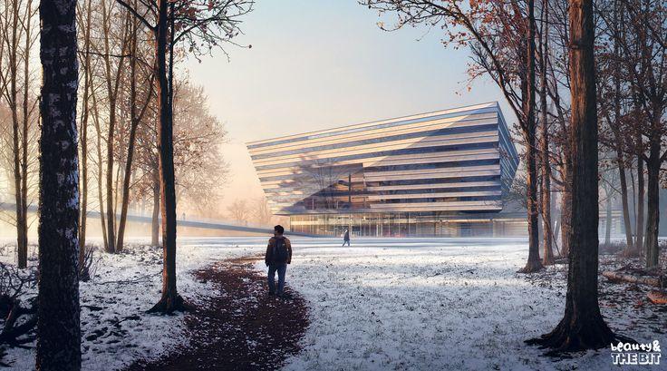 Shanghai Library, China, Schmidt Hammer Lassen Architects, 2016