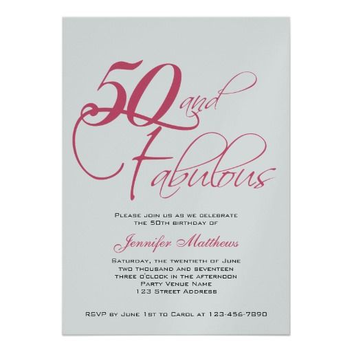 Download Now FREE 50th Birthday Party Invitations Wording