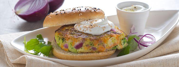 Hamburger di Verdure con Salsa di yogurt Total