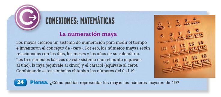 La numeracion maya, Español Santillana