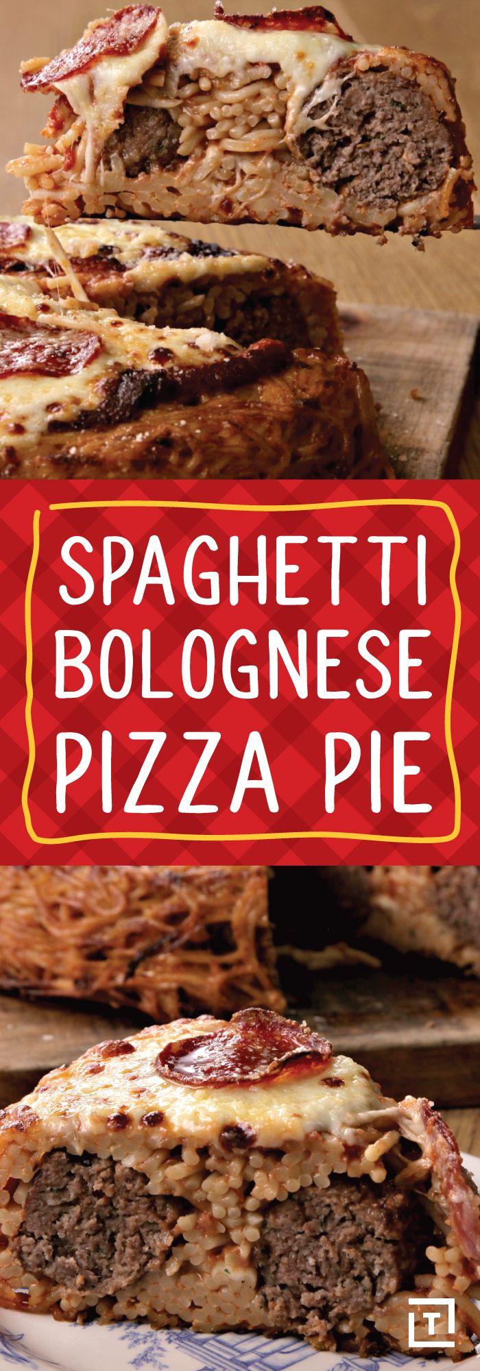 Blue apron bolognese - Spaghetti Bolognese Pizza Pie