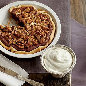 Chocolate-Pecan Chess Pie | MyRecipes.com    I made this for Thanksgiving and it was dee-lish-ous!