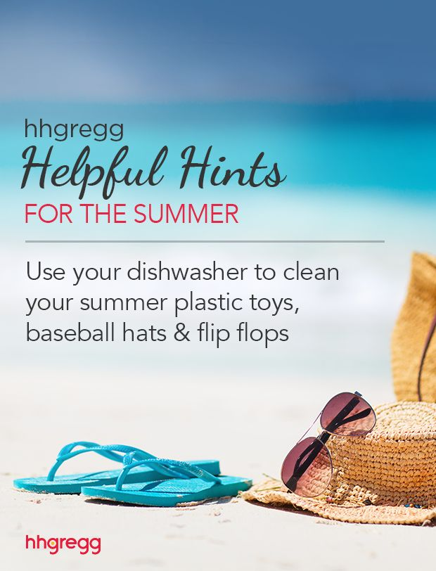 Use your dishwasher to clean your summer plastic toys, baseball hats & flip flops