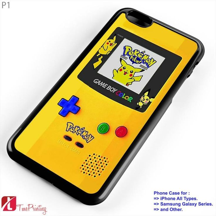 Gameboy Color Pokemon  - Personalized iPhone 7 Case, iPhone 6/6S Plus, 5 5S SE, 7S Plus, Samsung Galaxy S5 S6 S7 S8 Case, and Other