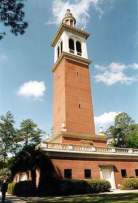 Stephen Foster Memorial Carrilon bell tower.