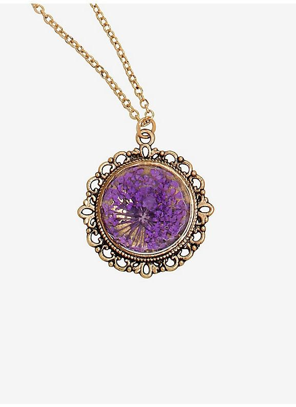 Hot Topic Dried Lavender Flower Necklace Lavender Jewellery Lavender Necklace Friend Necklaces
