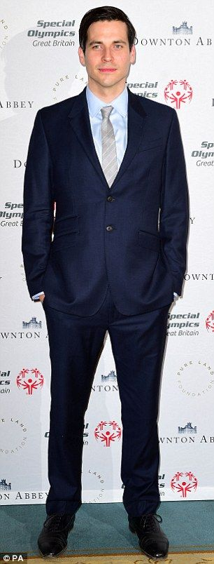 ... and Rob James Collier were typically smart in two-piece suits..