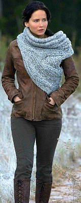 katniss everdeen catching fire costume I love this sweater Cowl It is amazing!