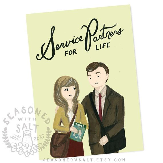 Service Partners for Life 5x7 Greeting Card JW by SeasonedWSalt