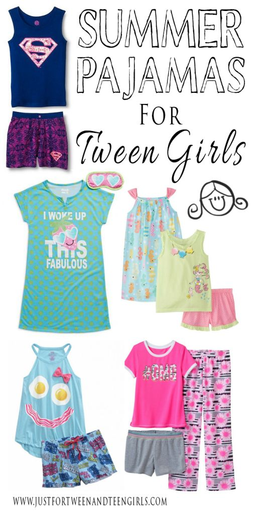Cute Summer Pajamas For Tween Girls
