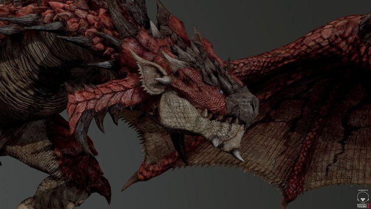 Marmoset Viewer   - Fan art  Liolaeus/Rathalos(MonsterHunter), YOSUKE ISHIKAWA on ArtStation at https://www.artstation.com/artwork/marmoset-viewer-fan-art-liolaeus-rathalos-monsterhunter