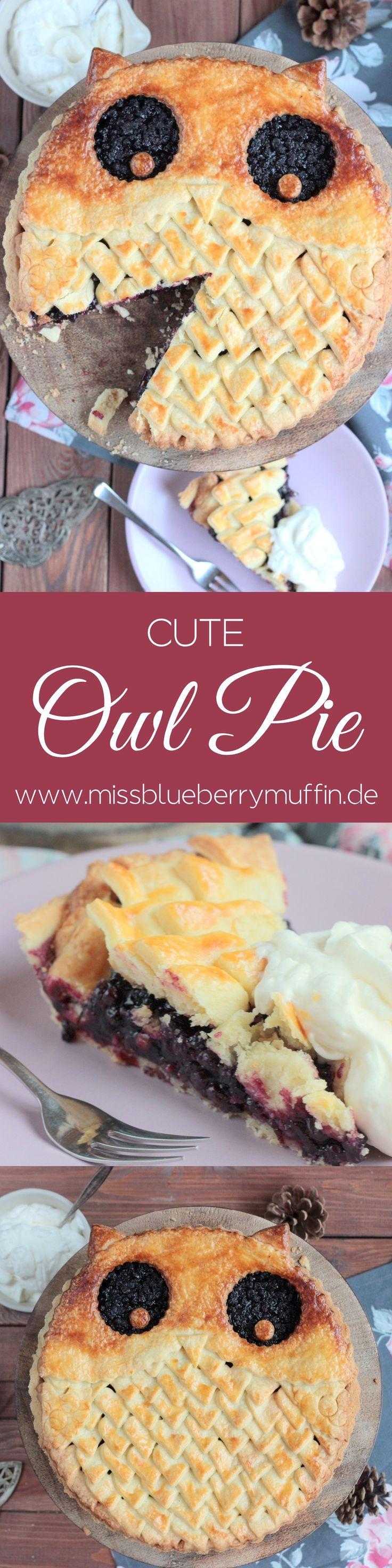 Einen niedlichen Eulen-Pie mit Blaubeerfüllung zu backen ist einfacher als ihr denkt! Wie es geht verrate ich auf dem Blog! <3  //Owl Pie