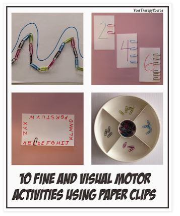 OT Activities of the Week: 10 Fine and Visual Motor Activities Using Paper Clips  - pinned by @PediaStaff – Please Visit  ht.ly/63sNt for all our pediatric therapy pin