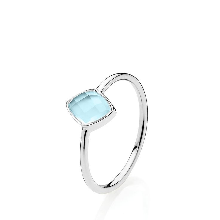 PRECIOUS ring with beautiful skyblue chalcedony. The ring is made of shiny white sterling silver – Danish design jewelry by Izabel Camille. Price: EUR 61 No. A4081sws-blue CL   www.izabelcamille.com