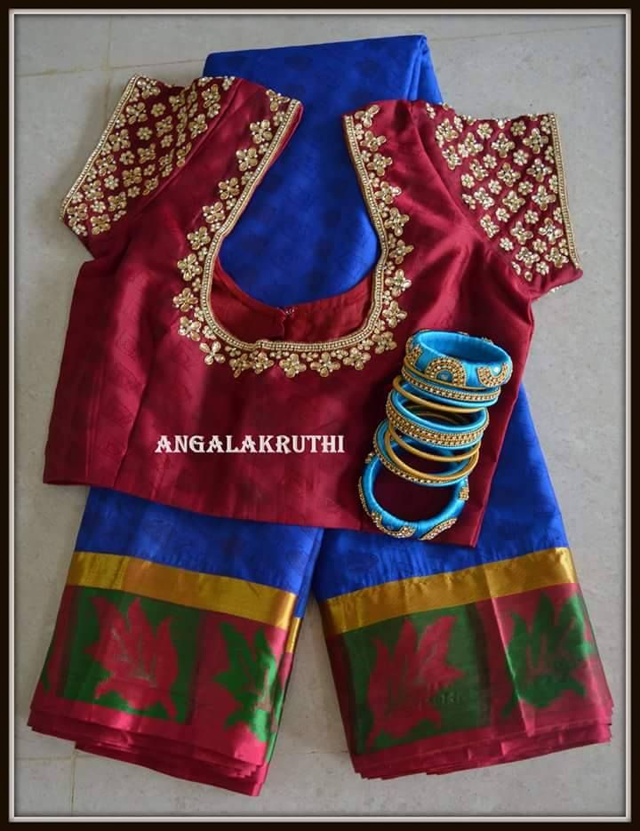 Embroidery designs for blouses in bangalore makaroka