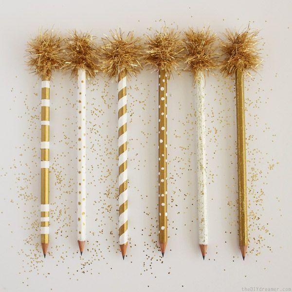 gold pencils