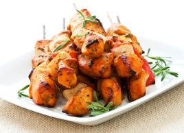 Greek Chicken Skewers with Cucumber Dill sauce--this was super yummy!