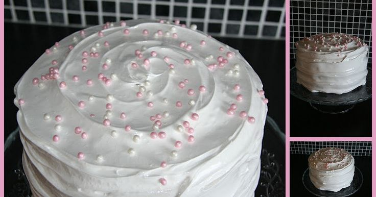 Har en tendens til å ende opp med sjokoladekaker når det skal bakes. Her hadde jeg lyst tilå prøve på en vaniljekake jeg fant oppskrift p...