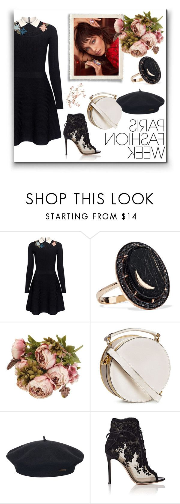 """Take this heart, leave it or break it all apart"" by holography ❤ liked on Polyvore featuring RED Valentino, Andrea Fohrman, Element, Gianvito Rossi, Canopy Designs, parisfashionweek and Packandgo"