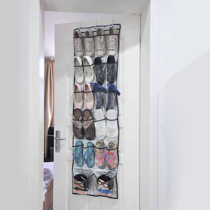 high quality 22 pockets clear over door hanging baseroom living room storage bag shoe rack hanger storage tidy organizer