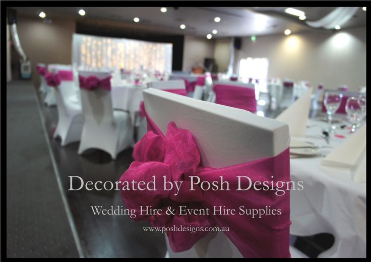 #Pink organza sashes - #wedding and #event #theming available at #poshdesignsweddings - #sydneyweddings #countryweddings #southcoastweddings #wollongongweddings #ruffledsashes #weddingsashes All stock owned by Posh Designs Wedding & Event Supplies – lisa@poshdesigns.com.au or visit www.poshdesigns.com.au or www.facebook.com/.poshdesigns.com.au #Wedding #reception #decorations #Outdoor #ceremony decorations #Corporate #event decoration #Fundraising event decoration #School #graduations
