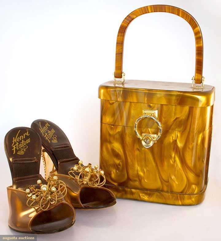 Lucite Handbag & Heels, 1950s, Augusta Auctions, April 9, 2014 - NYC, Lot 124