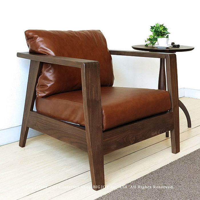 パーソナルソファ1Pソファー1人掛けソファー良いウォールナット無垢材の高級感がが魅力の両肘ソファーSOCIE-SF1P肘付きの椅子ラウンジチェア革張りレザー