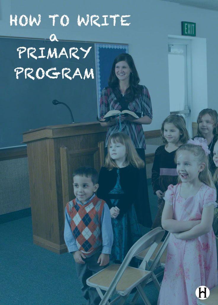 How to Write a Primary Program                              …