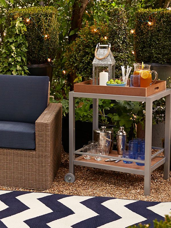 This Outdoor Bar Cart Has Fun Written All Over It Lawn