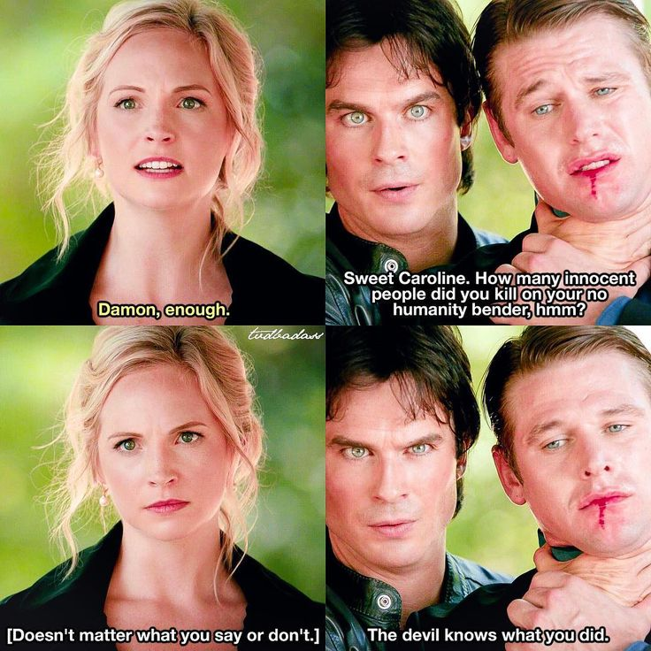 [8x05 - Coming Home Was A Mistake] True, actually all of them have killed at least one person and could go to hell I like the hell storyline (but not how they ruin Damon's character ugh) ⠀ Q: Caroline or Damon? ⠀ My edit give credit [#damonsalvatore#carolineforbes#mattdonovan#tvd#thevampirediaries#vampirediaries#tvdforever#8x05|135.7k]