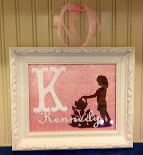 Diy Baby Decor Baby Gift Made Using Cricut Cuts And