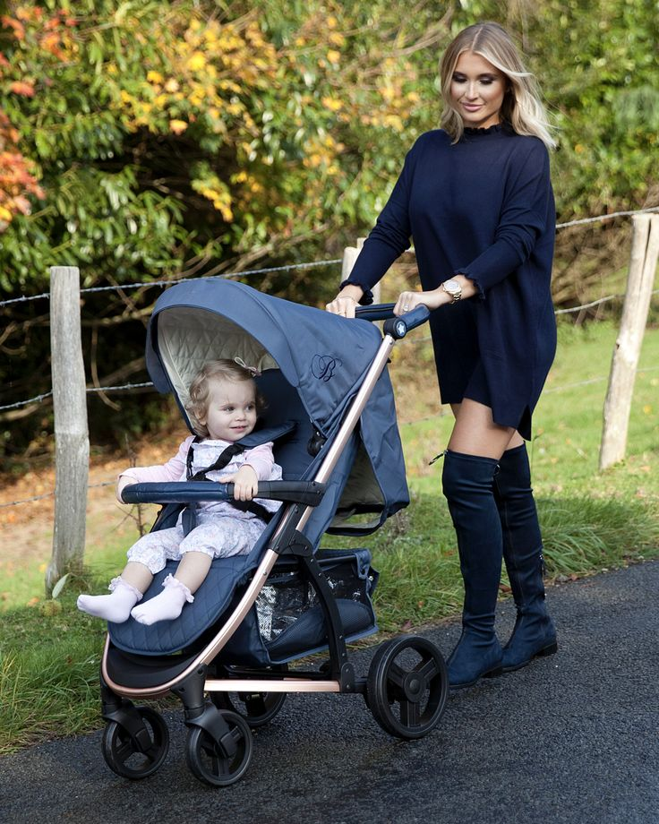This beautiful and stylish Rose Gold and Navy pushchair designed by Billie Faiers is a great everyday pushchair. It is lightweight, has a large shopping basket, height adjustable handle, is easy fold and a delight to push.   These pushchairs also come with a free raincover, bottle holder and apron style footmuff!