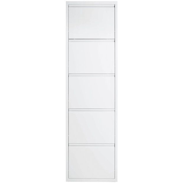Buy Habitat Daxton 5 Shelf Shoe Storage - White at Argos.co.uk - Your Online Shop for Shoe storage, Storage, Home and garden.
