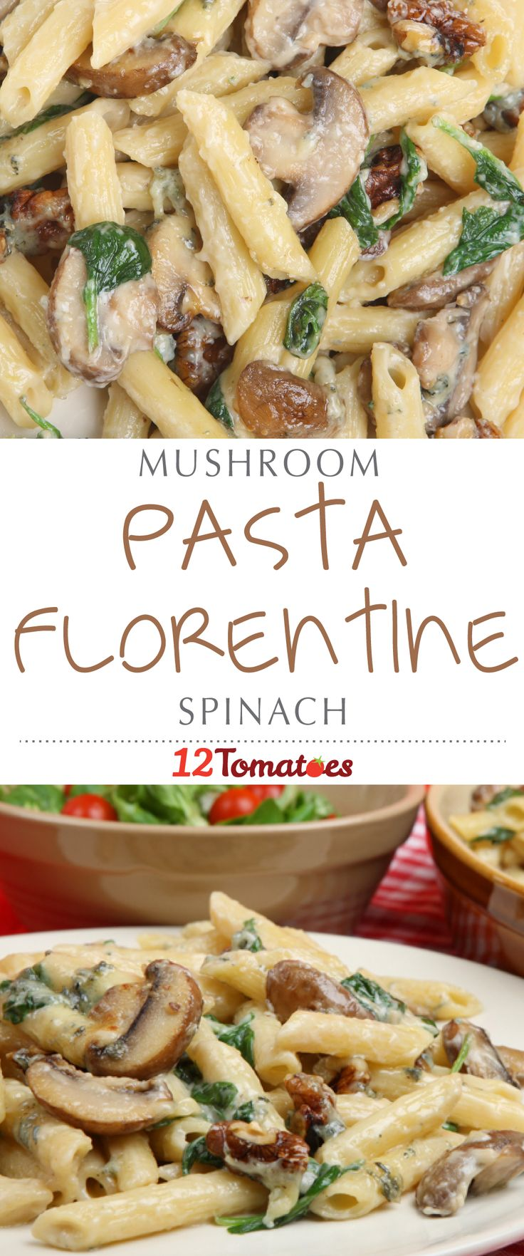 """Pasta Florentine is one of those tried-and-true recipes that always tastes good and is easy to make: the """"Florentine"""" element being the creamy mushroom and spinach sauce that perfectly coats the pasta. (Chicken or salmon Florentine are also tasty options, but require a little more effort in terms of preparation and attention.)"""