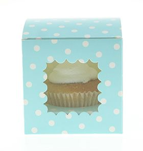 6 Sambellina Blue Cupcake  Boxes - All the blues party packs $105 http://www.strawberry-fizz.com.au