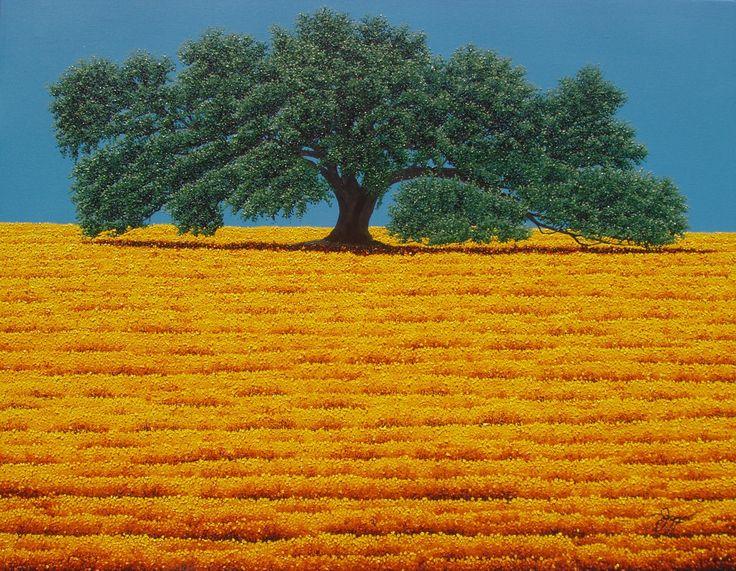 """THE RANDALL OAK"", 24"" x 36"", oil on canvas, soon available at: CRAIGHEAD GREEN GALLERY, 1011 Dragon Street, Dallas, TX 75207. Ph: 214.855.0779 www.craigheadgree... www.jaymaggio.com"