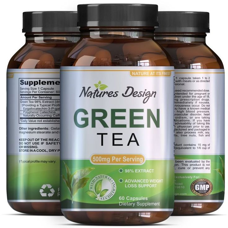 "Green Tea - Weight Loss Pills - Detox Cleanse - Burn Belly Fat - Lose Weight Naturally Fast - Dietary Supplement - Pure Extract - For Men & For Women - Pre Workout + Natural Energy - By Natures Design. #WeightLoss ""Lose weight normally with the help of our Green Tea supplement! Packed with numerous all-natural antioxidants, this powerful fat burner is fantastic for your body. Thaw the excess weight and go down those extra pounds, as you reach your weight-loss goals eas #vitaminB #vitaminD…"