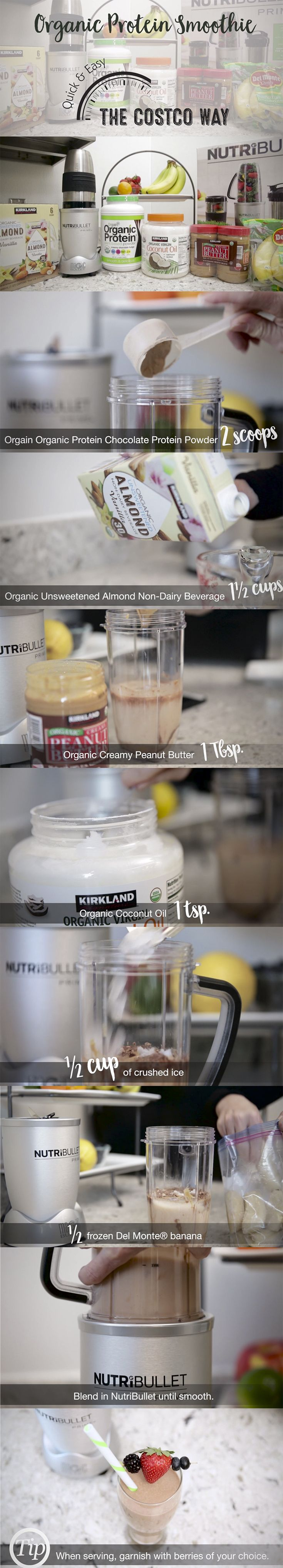 A quick and easy organic protein smoothie recipe that pairs well with your workout.