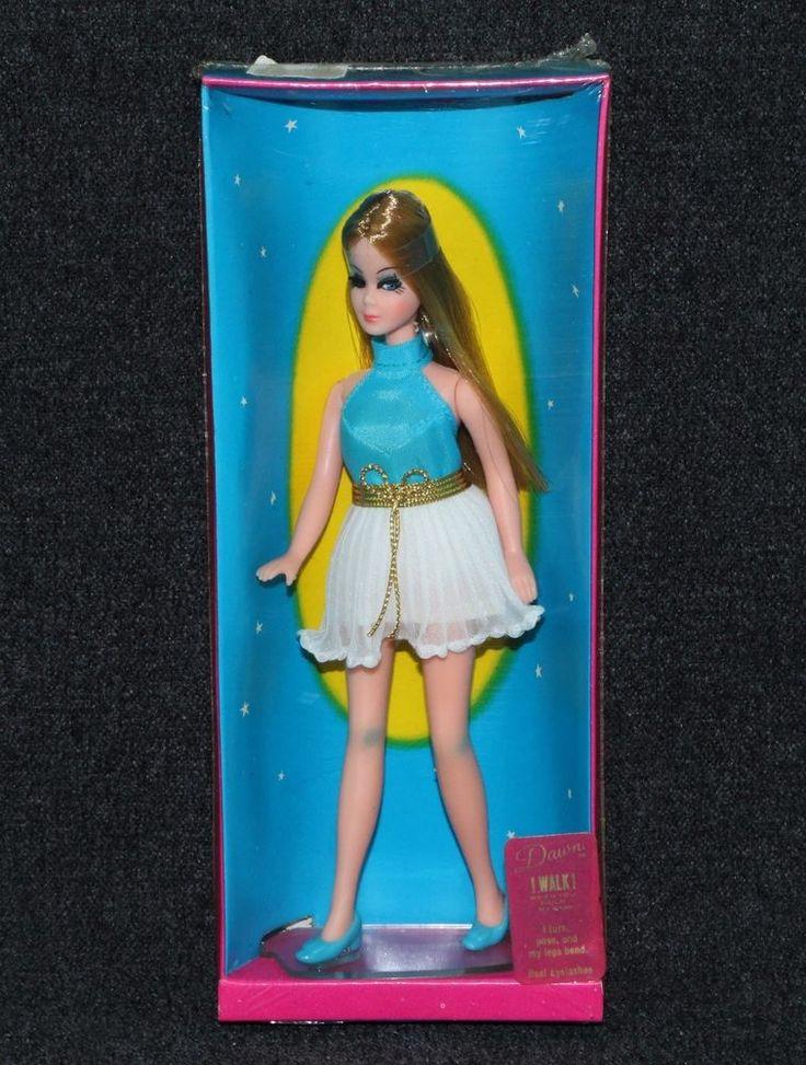 Dawn Doll 1970 Topper 1st Issue Blue Blouse White Mini MIB   eBay