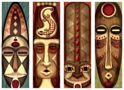 Post do dia: Decoração africana, parte 1: máscaras.                                                                                                                                                                                 Mais